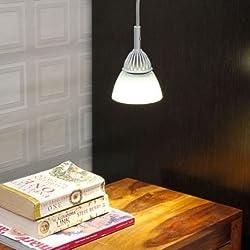 Renata LED Pendant Light - Enlighten - Cool White Light - Crackle Glass-Silver