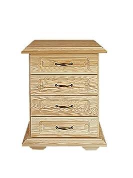 Dresser solid, natural pine wood Pipilo 25 - Dimensions 73 x 53 x 54 cm