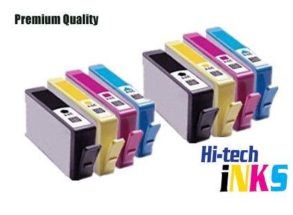 Kompatibel für HP 364XL, mit Chip, mit Tintenstand APEX) Tintenpatronen für Photosmart 5510, 5511, 5512, 5514, 5515, 5520, 5522, 5524, 6510, 6512, 6515, 6520, 7515, B010a, B109a B109d B109f,,, B109n B110a B110c B110e,,,,, für Photosmart Plus B209a B209c B210a B210c,,, B210d, Deskjet 3070A, 3520, 3522, 3524, Officejet 4610, 4620, hohe Kapazität 2 Sets Schwarz, Cyan, Magenta, Gelb