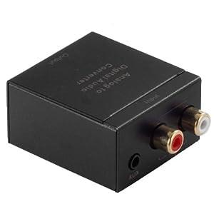 OKEBA Analog Stereo 3.5mm Jack To Digital Optical S/PDIF Coaxial Audio Converter