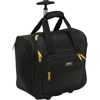 LUCAS Wheeled Under the Seat Cabin Bag EXCLUSIVE (Black)
