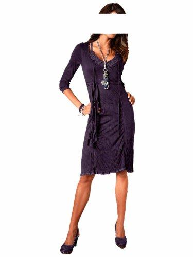 Linea Tesini Damen-Kleid Kleid Violett Größe 44