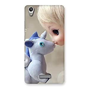 Enticing Lovely Cute Baby Girl Multicolor Back Case Cover for Lava-Pixel-V1