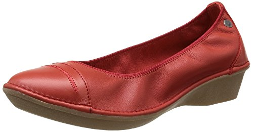 TBS  Shayla,  Ballerine donna Rosso Rouge (Pavot) 38