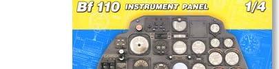 1/4 メッサーシュミット Bf110 計器盤 限定版/14001