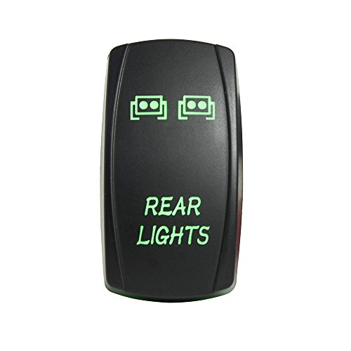 Mictuning 5pin REAR LIGHTS Rocker Switch ON-OFF LED Light 20A 12V GREEN (Marine Led Light Bar Green compare prices)