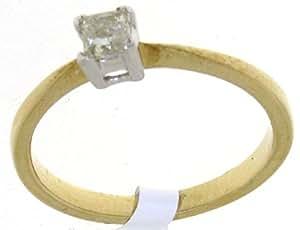 Majestic 9 ct Gold Ladies Solitaire Engagement Diamond Ring Brilliant Cut 0.25 Carat Size J