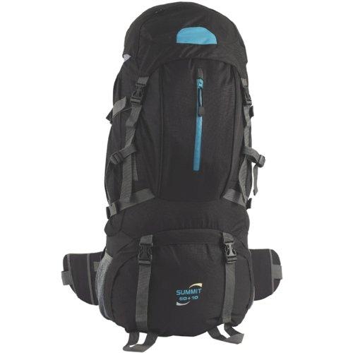 easy camp summit rucksack sporttasche 60 10 liter schwarz ebay. Black Bedroom Furniture Sets. Home Design Ideas