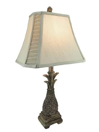 Decorative Pineapple Table Lamp With Silk Shade Amazon Com