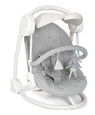 Mamas & Papas Musical Starlite Swing Chair - Grey Melange Design by Mamas & Papas
