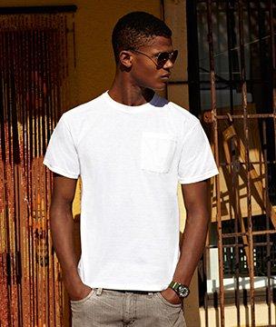 Mens Fruit of the Loom Heavy Pocket T-Shirt, Mens T-Shirt 5 Colours