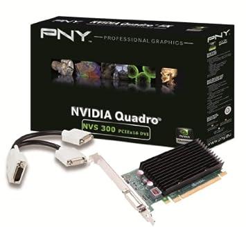 PNY NVIDIA NVS 300 X16 DVI Carte graphique Low Profile double sortie DVI VCNVS300X16DVI-PB 512 Mo PCI Express 2.0 16x