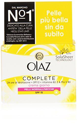 Olaz Complete 3 in 1 Crema Giorno Idratante SPF 15 Pelli Normali/Secche, 50 ml