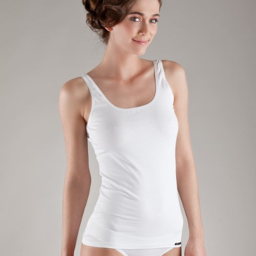 Skiny Tank Top, Cotton, 2er-Pack Größe 44, Farbe White-Gerania