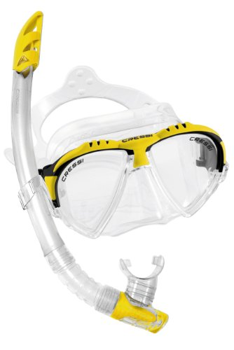 Cressi Matrix 2-Lens Diving Mask and Gamma Snorkel Combo