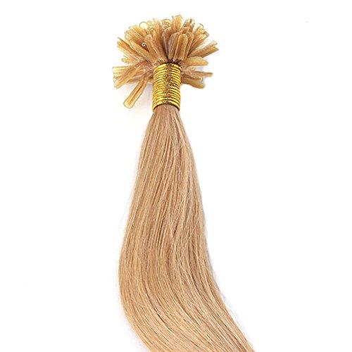 Ayliss - 100 Bandes Faisceux Extensions de Cheveux Humains 100% Remy Hair Tissage Lisse et Souple Naturel Vierge Longue Naturel Coiffure Resistant - Blond 16\\