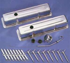Chevy Small Block Tall Chrome Dress Up Kit W/ Wing Nuts