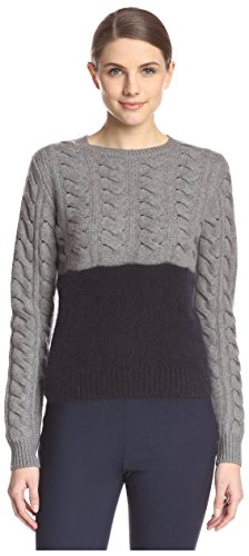 Carven Women's 830PU65 Color Block Pullover, Navy, S