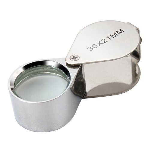 Jewellers Loupe 30 X 21Mm Glass Jewellery Antiques Magnifier Hallmark Eye Lens.. front-203363