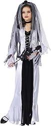 Skeleton Bride Girl Kids Halloween Costume