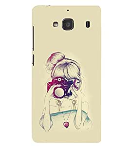 PRINTSWAG GIRL WITH CAMERA Designer Back Cover Case for XIAOMI REDMI 2S