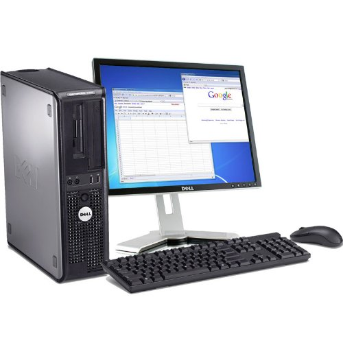 Dell Optiplex 760 Intel Core 2 Duo 2600 MHz 1 Terabyte Serial ATA HDD 4096mb DDR2 Memory DVD ROM Genuine Windows 7 Professional 32 Bit + 17″ Flat Panel LCD Monitor Desktop PC Computer