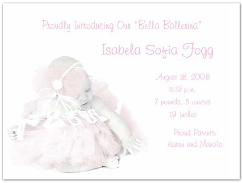 Baby Girl Photo Birth Announcements front-594088
