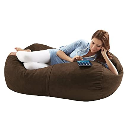 Jaxx Sofa Saxx 4-foot Bean Bag Lounger, Chocolate Microsuede
