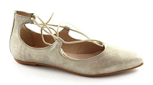 DIVINE FOLLIE 5782 sabbia beige scarpa donna ballerina schiava laccio 40