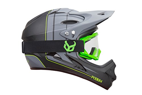 Demon-Podium-Full-Face-Mountain-Bike-Helmet-with-Green-Viper-MTB-Goggles