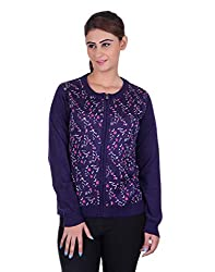 eWools Women's Purple Wool Sweater (721-eWools-Medium)