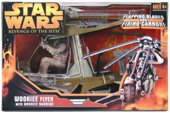 Yoda Star Wars Figure Star Wars Revenge Of The Sith Wookiee Flyer Vehicle With Wookiee Warrior 3 75 Action Figure 2005 Hasbro