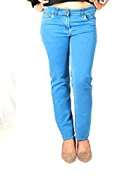D-Nimes Women's Fashion Denim Slim Fit Jeans (36, Light Blue)