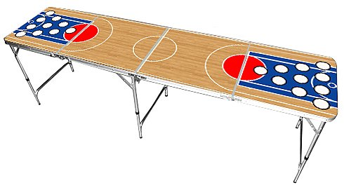 Basketball Design Beer Pong Table 8 FEET - Premium HD Graphic Red Cup Pong Combination Tables autotags B004G45R5Y