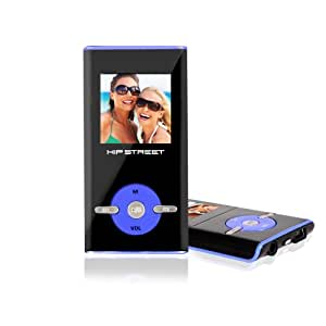 Hipstreet 4gb MP3 Video Player - Mixed Colours: Blue, Pink, and Black.