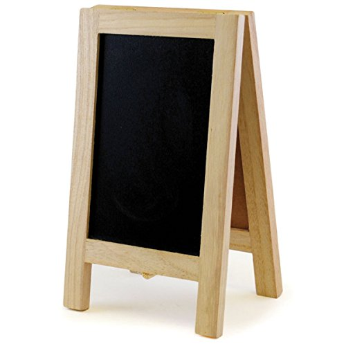 Multicraft Imports Chalkboard/Cork Easel, 4.375-Inch by 7.375-Inch - 1