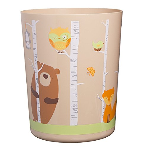 Forest Friends Bathroom Decorative Wastebasket (Bears Garbage Can compare prices)