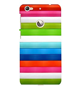 printtech Colored Lines Back Case Cover for  LeEco Le 1s Eco