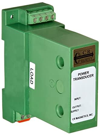 CR Magnetics AC Power Transducer with 3-Phase and 3-Wire Active Power, 50 - 400 Hz, 0 - 300  Load, 12 VDC, 4 - 20 mADC Output Range