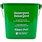 San Jamar KP97GN 3-Quart Red Kleen-Pail Container / Case of 12