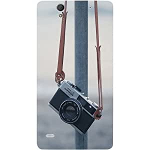 Casotec Camera Design Hard Back Case Cover for Sony Xperia C4