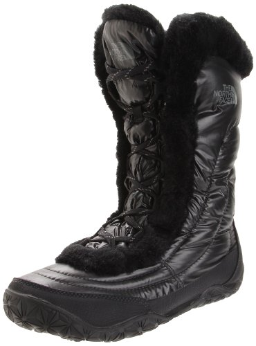The North Face Women's Nuptse Fur IV Boots (UK 5, Shiny Black)
