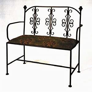 Gothic Loveseat With Arms Metal Finish Satin Black by Grace Collection
