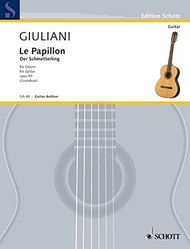 Le Papillon: 32 leichte Anfängerstücke. op. 50. Gitarre.