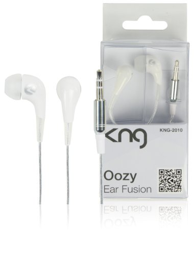 KNG Oozy Ear Fusion Designer Earphones - White