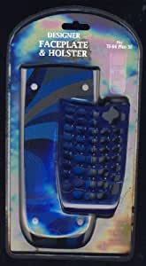 TI-84 Plus SE Designer Faceplate and Holster: Blue