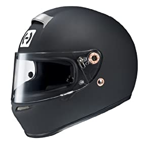 HJC Helmets 6BM10 Si-12 Rubbertone Black Medium SA2010 Approved Auto Racing Helmet