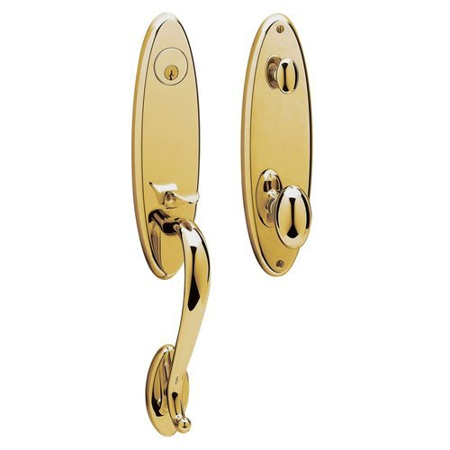 Baldwin 85360.003.Entr Blakely Emergency Exit Handle Set With Egg Knob, Lifetime Polished Brass front-711548