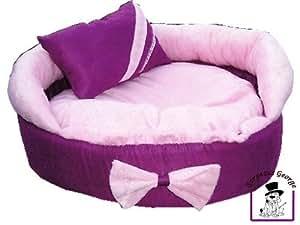 Gorgeous designer pink and purple dog puppy cat kitten pet for Designer cat beds uk