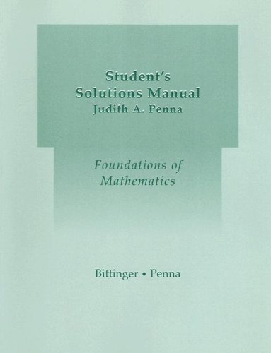 Student Solutions Manual for Foundations of Mathematics